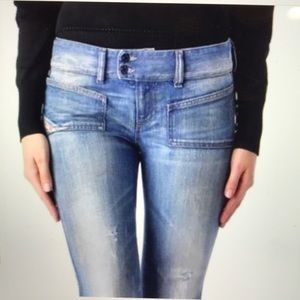 Diesel boot Cut jeans distressed Sz 28